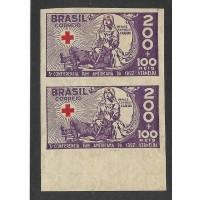 0088SD- 200Rs Cruz Vermelha em par sem denteação.