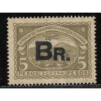 SBr-23- 5 pesos, sobrecarga menor,tipo II, novo. O selo chave da serie.Muito raro.