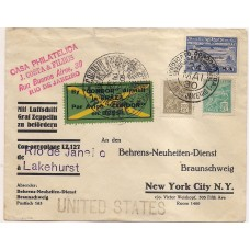 1930-Envelope do Rio para N.York via Zeppelin, com selo  Z-09 .